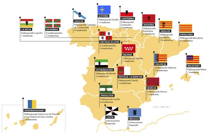 Espanjan itsehallintoalueet