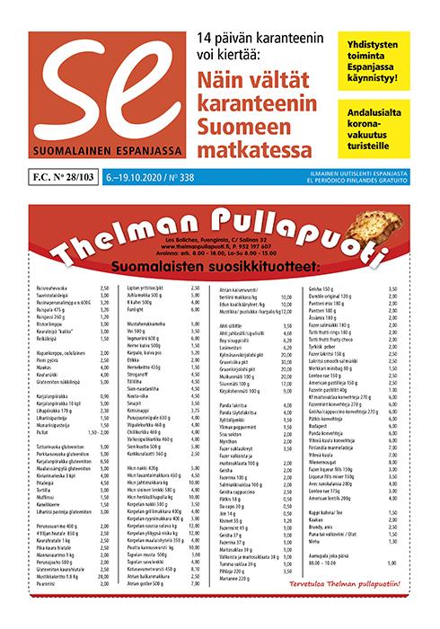 SE-sanomalehden kansi