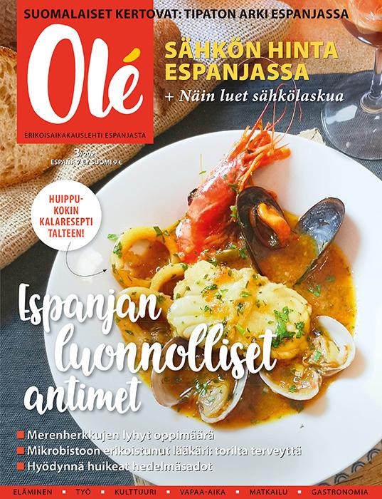 Olé-lehti kansi maaliskuu 2021